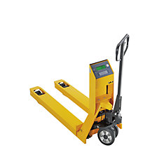 Pallet truck with precision scale