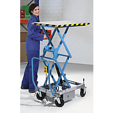 Double scissor lifting platform truck