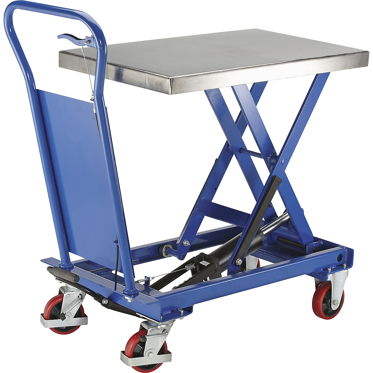 With stainless steel platform, max. load 250 kg
