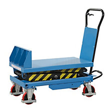 Tilting lifting platform truck
