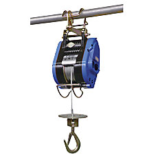Cable winch for construction