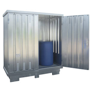 Contenedor almac n para sustancias contaminantes del agua - Contenedor de agua ...