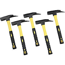 Set of roofing hammers with fibreglass handle