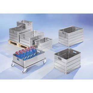 bac de manutention gerbable en aluminium m8557 gaerner suisse. Black Bedroom Furniture Sets. Home Design Ideas