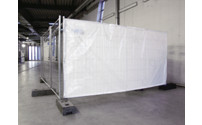 Opaque sheet for mobile security fencing