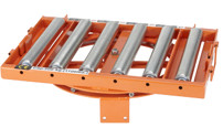 Roller conveyor, rotating
