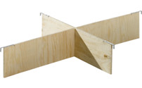 Pallet collar dividers, set