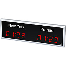 LED world time clock