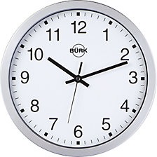 Wall clock made of ABS plastic, silver, Ø 300 mm