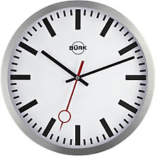 Wall clock made of brushed aluminium