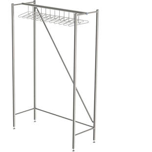 Cleanroom coat rack made of stainless steel