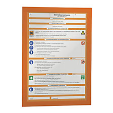 for A4, orange frame, pack of 10