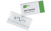 Name badges with corrugated needle