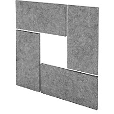 Acoustic wall panel set