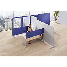 Premium sound absorption partition system