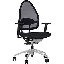 Designer office swivel chair, with net back rest