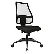 Ergonomic swivel chair, back rest height 680 mm