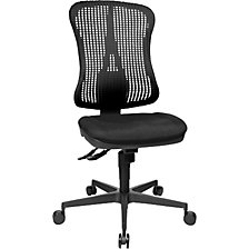 Ergonomic swivel chair, contoured seat