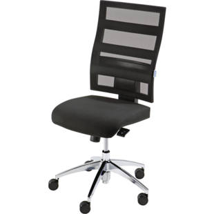 Operator swivel chair, back rest height 550 mm