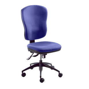 Operator swivel chair, back rest height 600 mm