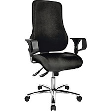 Operator swivel chair, with arm rests