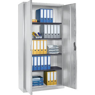 Steel cabinet with double doors