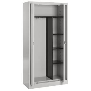Steel cupboard with flush doors