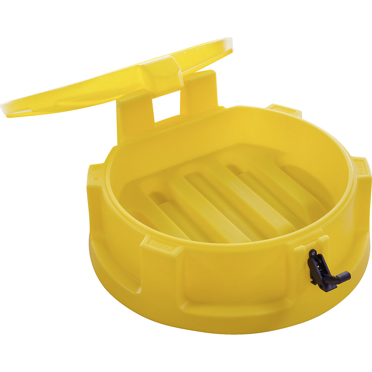 Plastic drum funnel: Ø 620 mm, lid, catch, sieve   KAISER+KRAFT  International