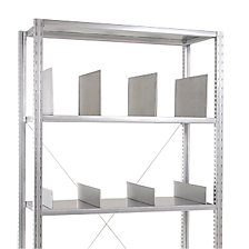 Divider for heavy duty shelf unit, zinc plated