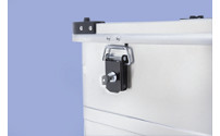 Cylinder lock set for aluminium containers