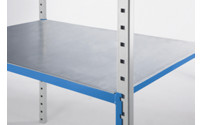 Steel shelf panel