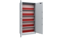 Steel cupboard with fire protection