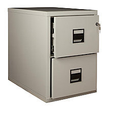Suspension file cabinet, fire resistant