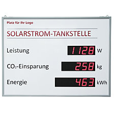 Display a LED fotovoltaico per interni ed esterni