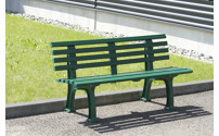 Park bench made of plastic