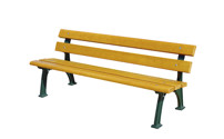 Park bench, solid cast iron frame