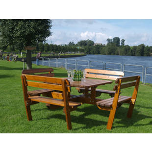 Picnic bench with back rest