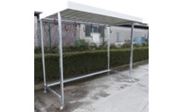 Shelter with bicycle hanger