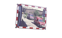 Traffic mirror made of Sekurit glass