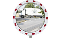 Traffic mirror with universal bracket