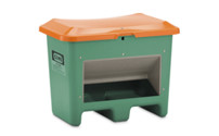 Grit container made of GRP