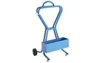 Steel strapping dispenser, can be carried or rolled