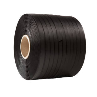 Plastic strapping for short roll