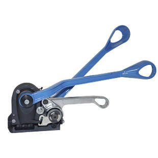 Steel strapping tool, sealless