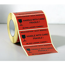 ''Handle with care! Fragile!'' imprint