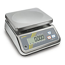 Stainless steel scale with splash water protection