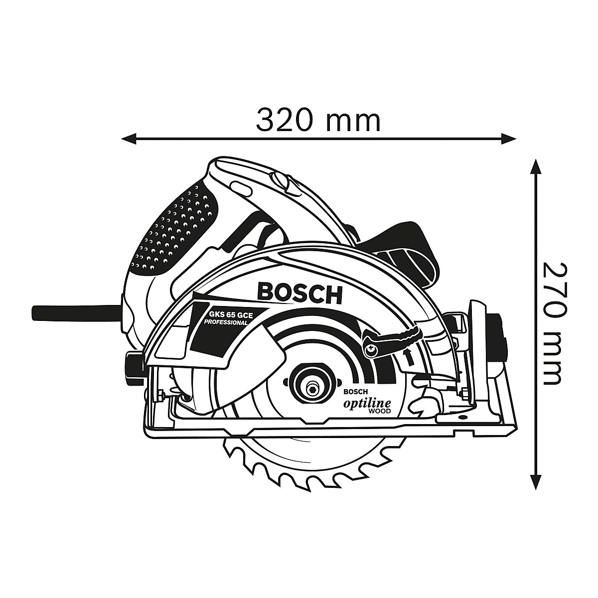 Bosch Gks 65 Gce Professional Hand Held Circular Saw In L Boxx With Dust Extraction Accessories Kaiser Kraft International