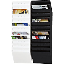 Wall mounted brochure racks