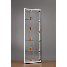 WxD 500 x 500 mm, glass corner cabinet