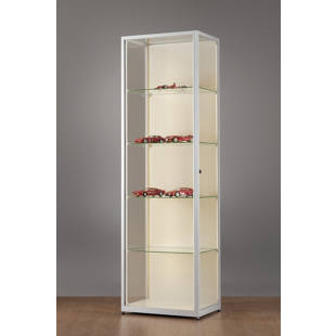 Glass cabinet with LED strips, depth 400 mm